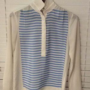 Jcrew polyester popover blouse